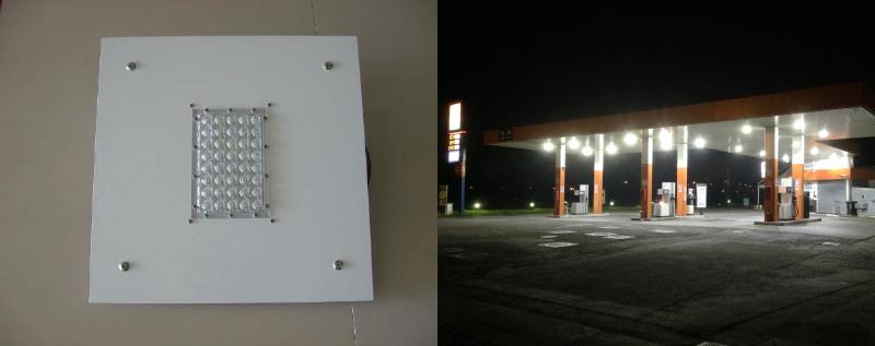 Plafoniera per pensilina - Malagoli MPM - Stazioni Servizio Carburanti